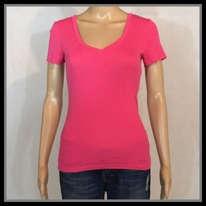 J. Crew Pink Fitted Tee